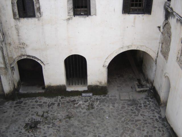 The female slave yard at Ghana Elmina Castle