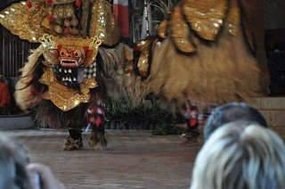 Barong dance performance, an Indonesia trip cost