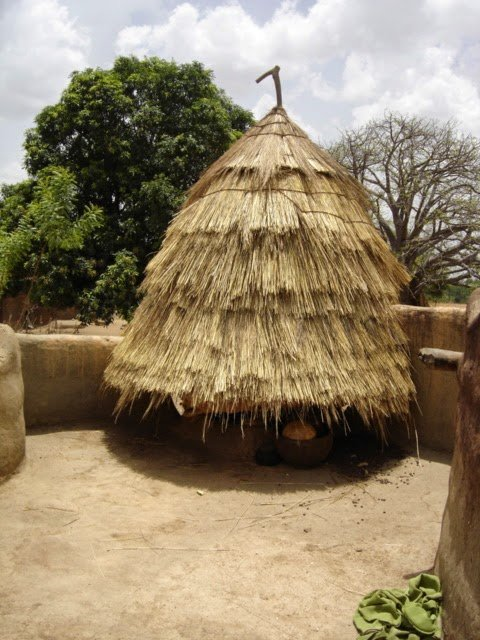 A grain storage in a tata in the Tamberma Valley in Togo