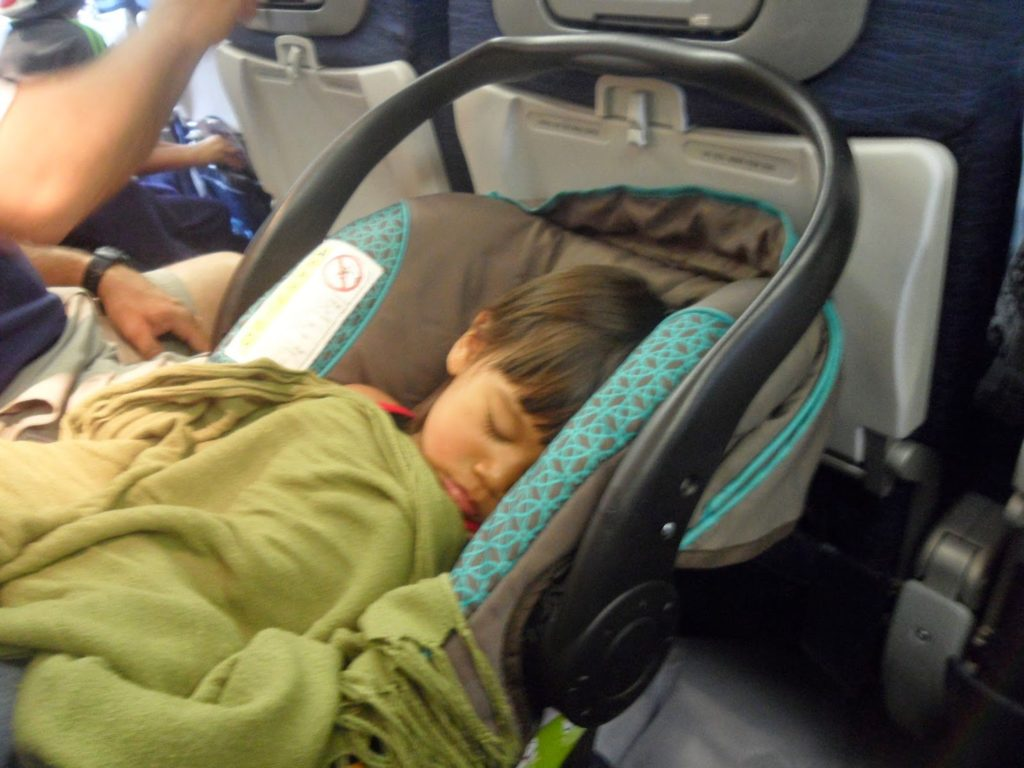 Car seat for plane travel