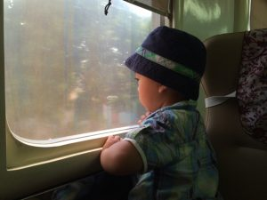 Traveling with kids in Indonesia by train