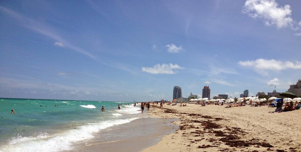 South Beach Miami, Florida, a place to visit during a layover in Miami
