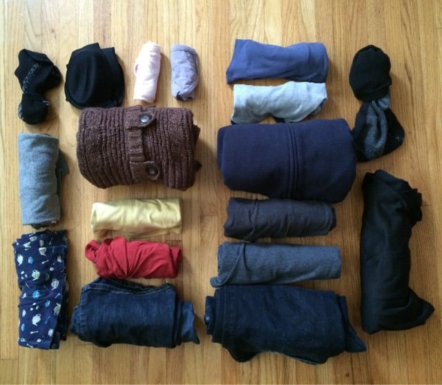 Adult clothes for a weekend road trip