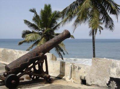 A canon at Ghana Elmina Castle