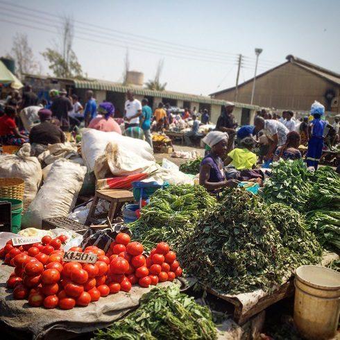 Produce at Soweto Market in Lusaka, Zambia