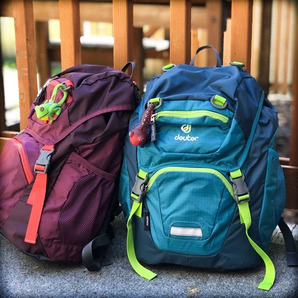 Two small kids backpacks for minimalistic travel