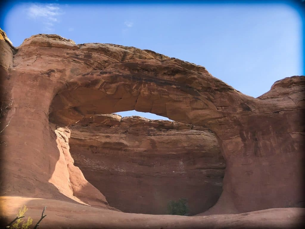 Tapestry Arch at Arches National Park with kids