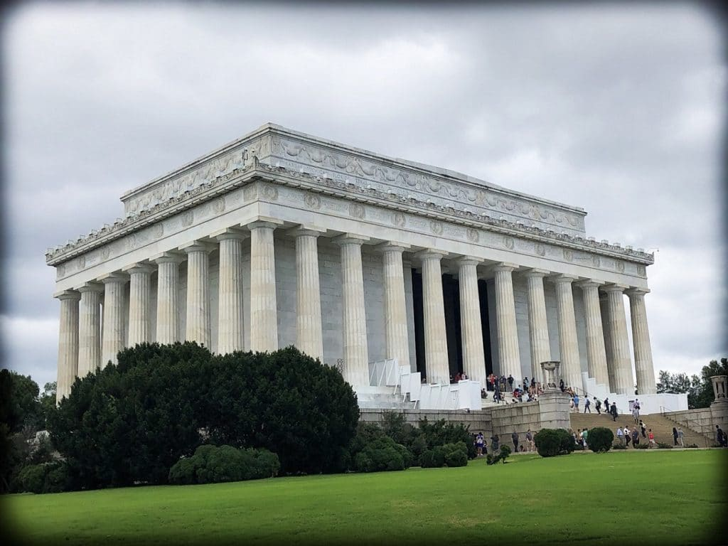 The Lincoln Memorial in Washington, DC, where families can do DC world schooling activities