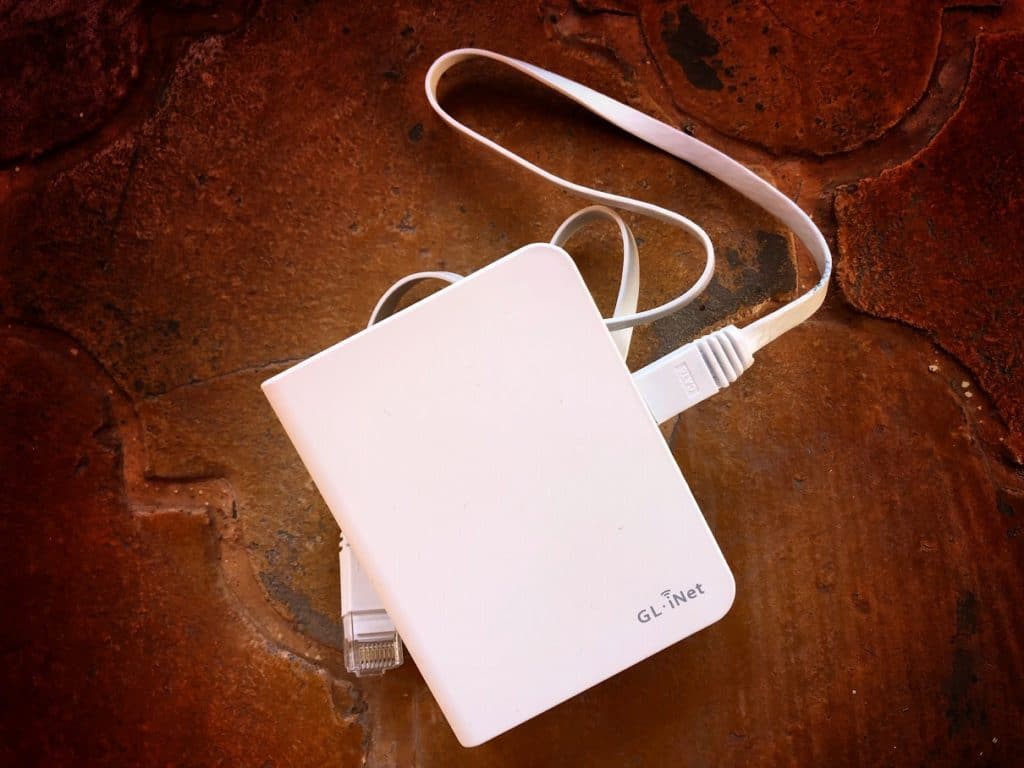 A travel WiFi router for international travelers