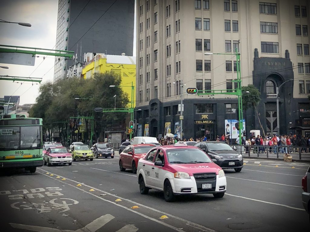 Taxis in Mexico City, for traveling to Mexico with kids