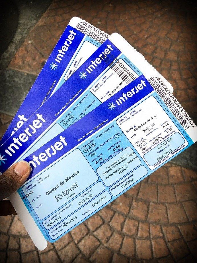 Boarding passes for KidZania activities