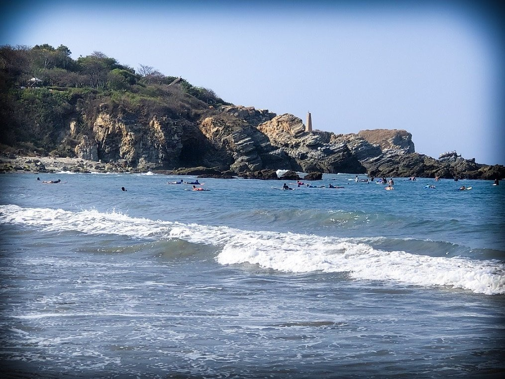 Surfers at Puerto Escondido beaches