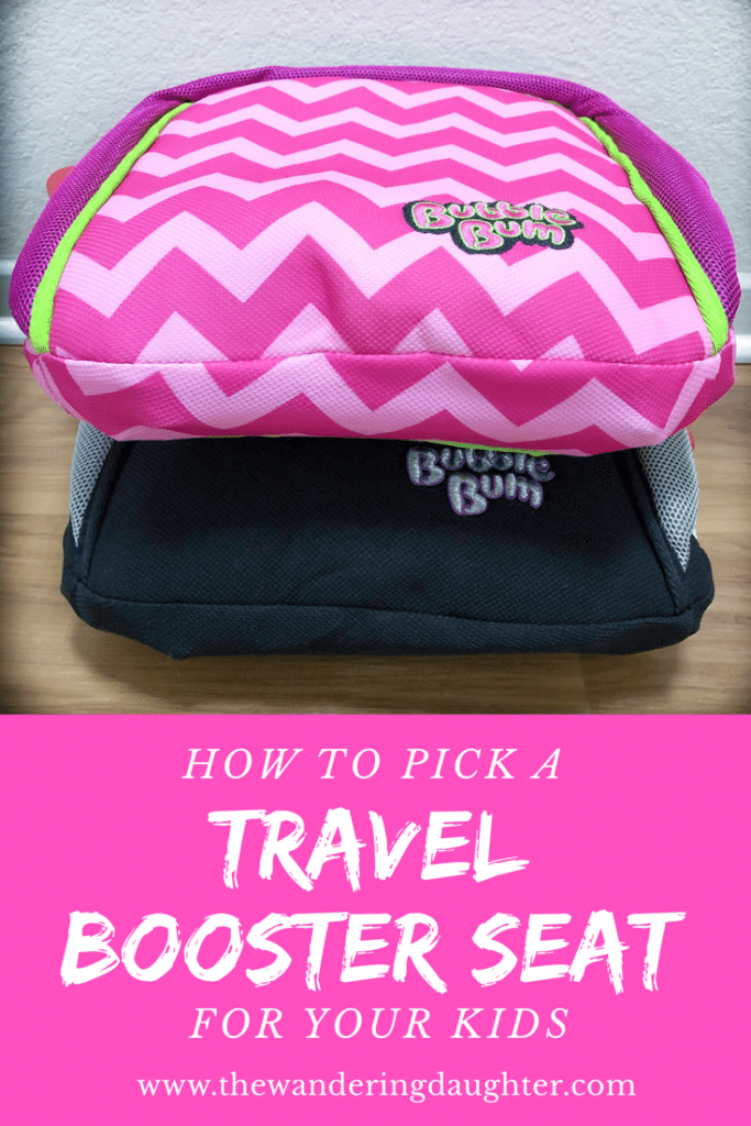 How To Pick A Travel Booster Seat For Your Kids | The Wandering Daughter |  Tips for picking the right travel booster car seat for your kids. Why we love the BubbleBum travel booster seat. #sponsored #boosterseat #travelcarseat