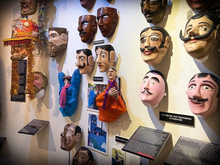 Experiencing the San Miguel de Allende art at the mask museum while living in San Miguel de Allende