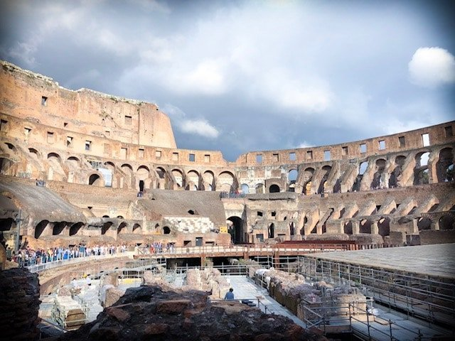 Visiting the Colosseum with the Hop On Hop Off Rome tour