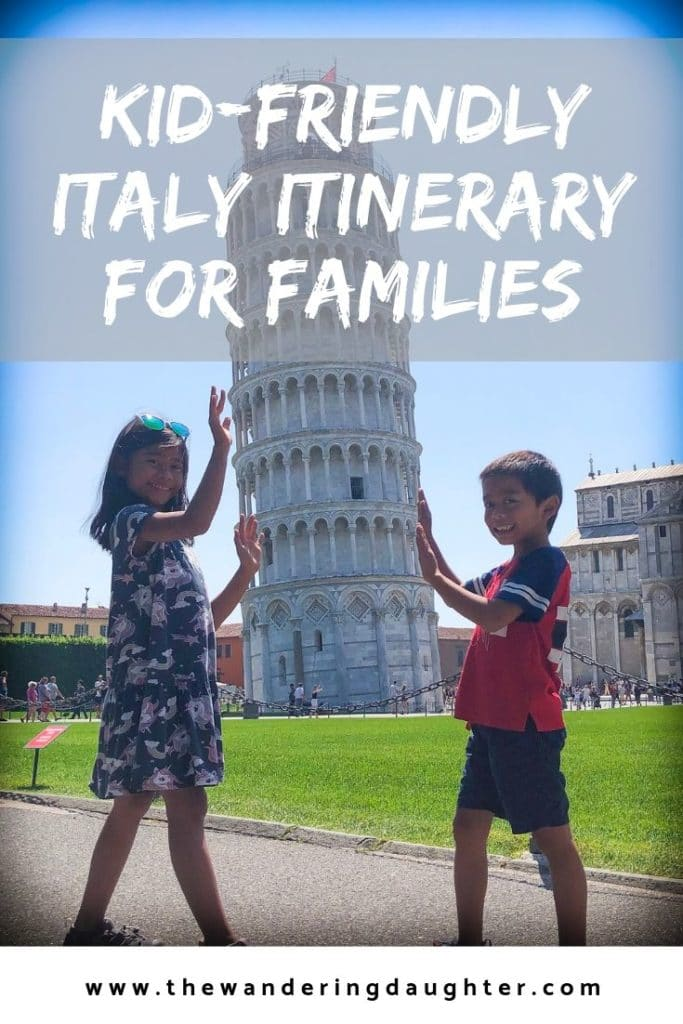 Kid-Friendly Italy Itinerary For Families | The Wandering Daughter | Tips for planning a trip to Italy with kids. Fourteen day Italy itinerary for families, to help families explore things to do in Italy. #familytravel #italy #foodie #parmesan
