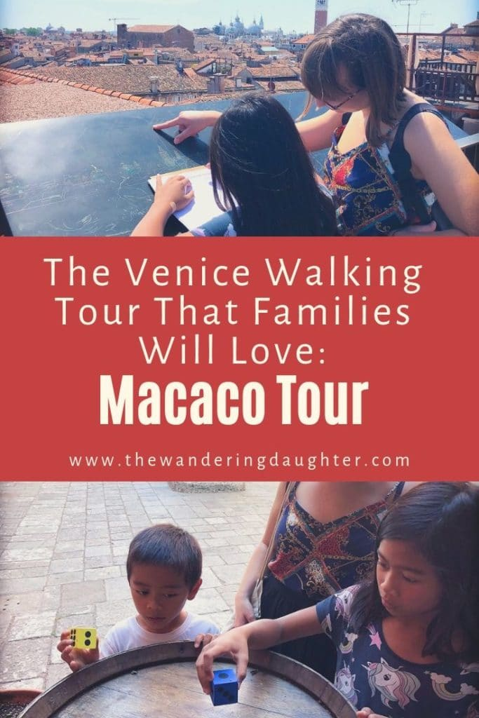 The Venice Walking Tour That Families Will Love: Macaco Tour | The Wandering Daughter | Taking a Venice walking tour specifically geared towards families. Kids have a chance to do scavenger hunts, workshops, and even treasure hunts,. The activities help them learn about Italy. #familytravel #Italy #Venice #Venicewalkingtour