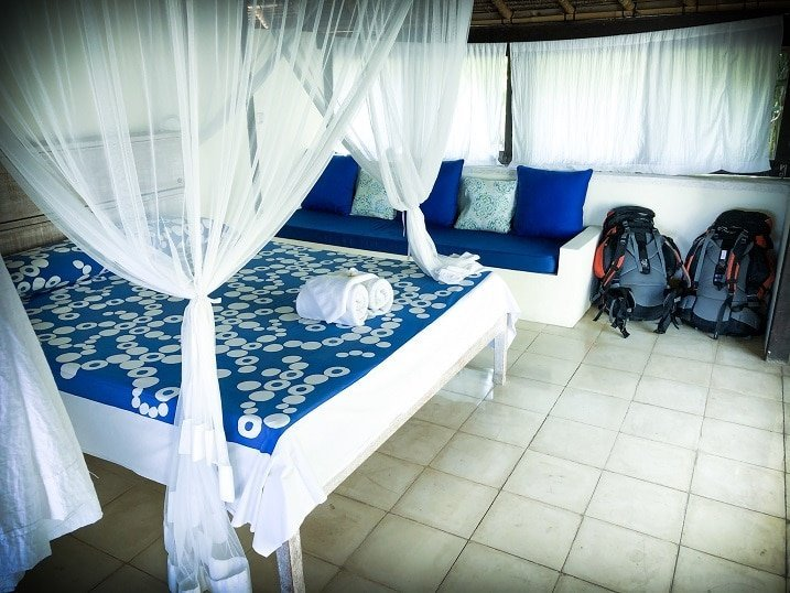 An eco-friendly hotel room in Padang Bai, Indonesia for ethical family travel