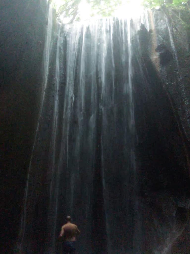 The Tukad Cepung Waterfall in Bali, Indonesia.