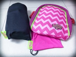 BubbleBum travel booster seat with carrying case
