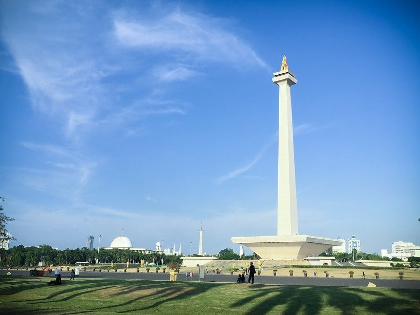 The National Monument in Indonesia, where travelers can spend an afternoon keeping in touch with family