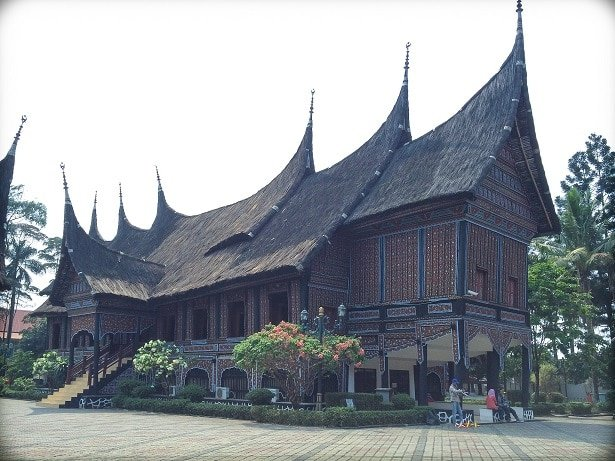 A traditional house at Taman Mini, one of the attractions in Jakarta