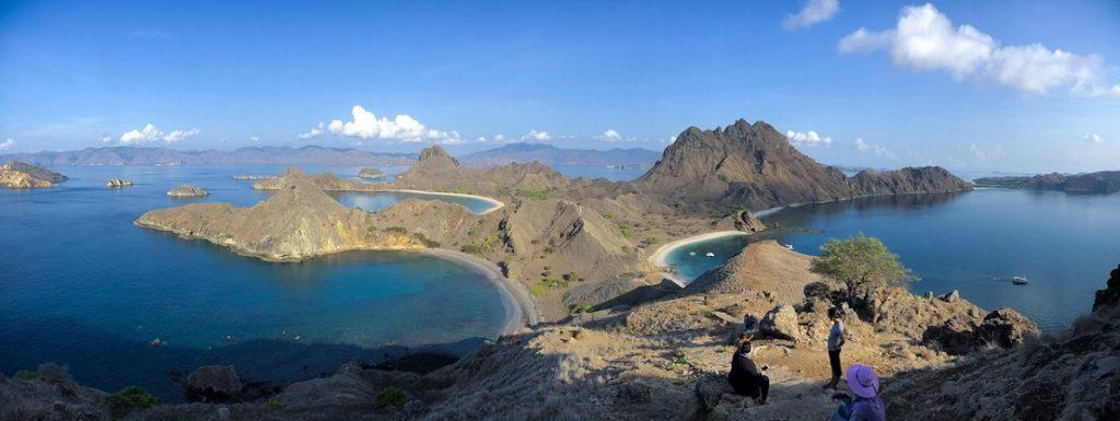 The view of Padar Island during a Komodo Tour