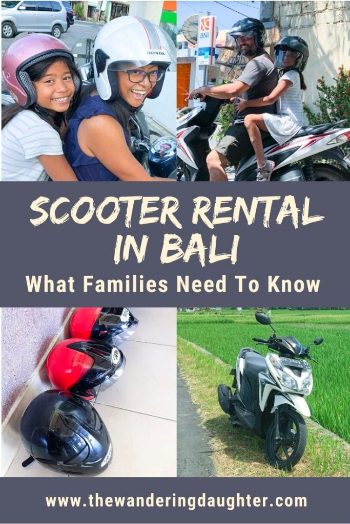 Scooter Rental In Bali: What Families Need To Know   The Wandering Daughter   Tips for families visiting Bali, Indonesia on how to do a scooter rental in Bali.