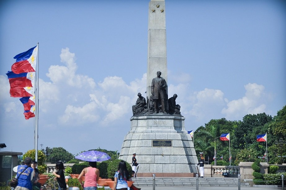 A monument at Rizal Park, one of the tourist spots in Luzon