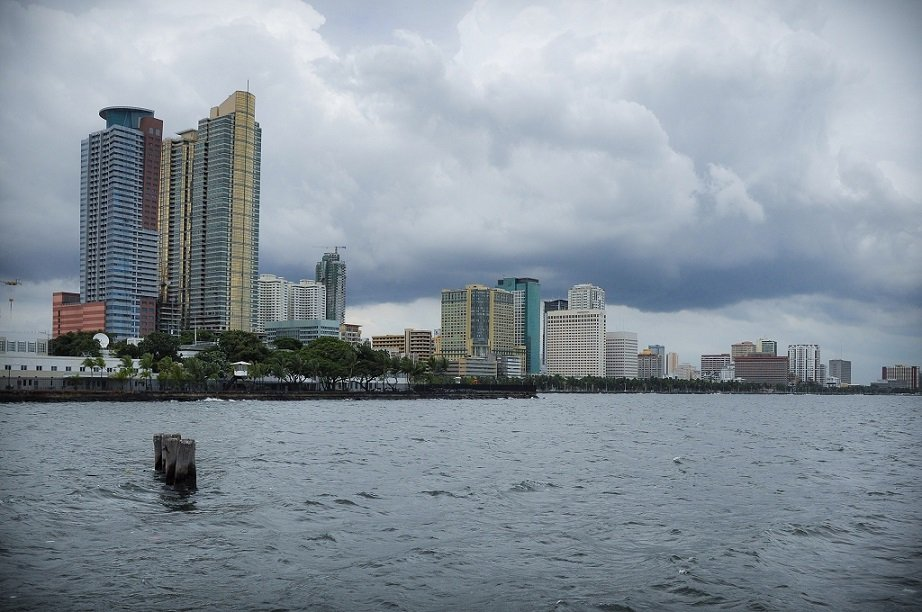 A water view of Manila Bay, one of the tourist spots in Luzon
