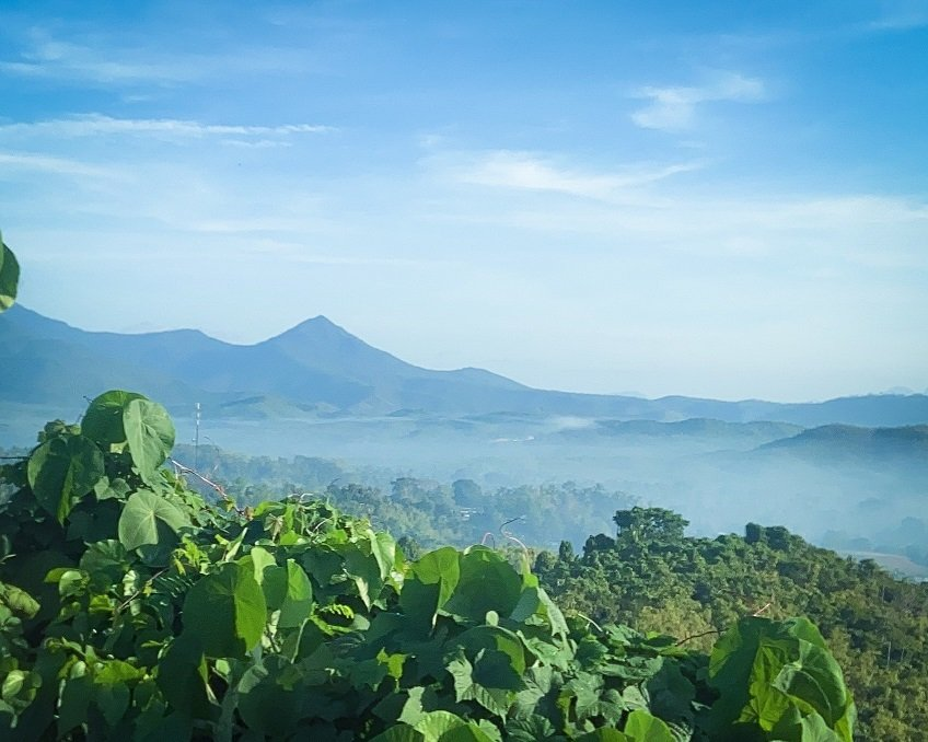 Mountain landscape near Puerto Princesa in the island of Palawan