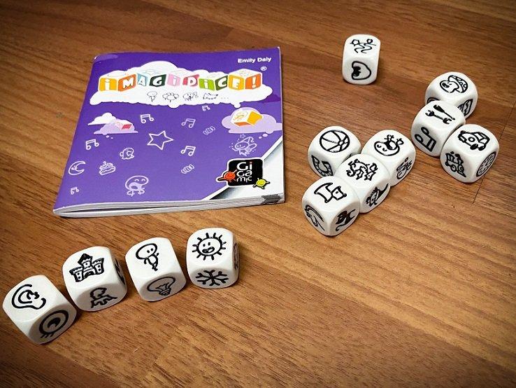 Story dice for homeschool activities