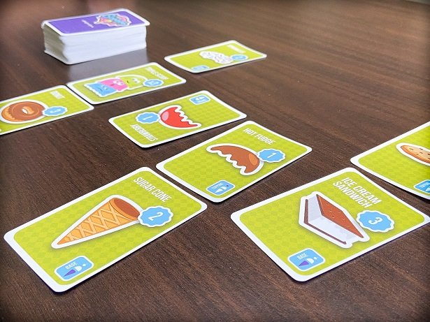 Travel card games: Stack The Scoops