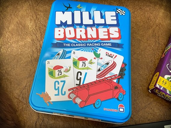 Travel card games for families: Mille Bornes