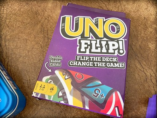 Travel card games for families: UNO Flip!